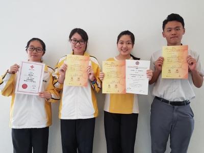 同學榮獲多項義工服務獎項(紅十字青年團)