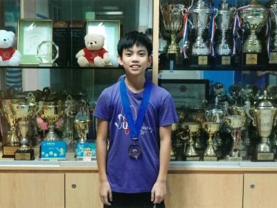 2D王崇喆榮獲第九屆亞洲跳繩錦標賽14歲以下男子組團體四人同步花式季軍