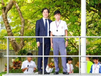 3B陳卓祈於全港青少年野外定向錦標賽勇奪男子M16個人第六名(野外定向學會)