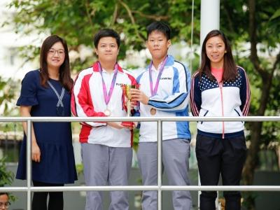 泳隊於2018-2019年度大埔及北區中學分會校際游泳比賽勇奪獎項(游泳隊)