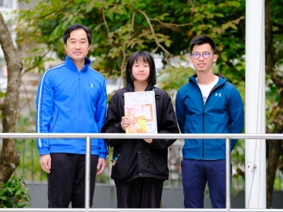 4A陳詩敏於《北區學聲》封面設計比賽榮獲亞軍