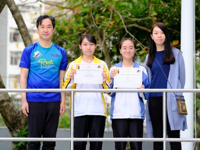 5B陳嘉寶及何芷茵同於亞洲動物基金20周年明信片設計比賽榮獲優異獎(視藝科)