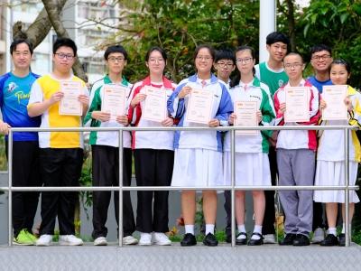 同學於2018科學評核測試勇奪多個獎項(化學科)