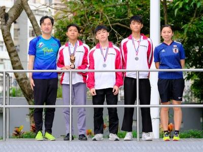 同學於上水東莞學校第6屆陸運會暨60周年校慶中學友校接力邀請賽獲獎
