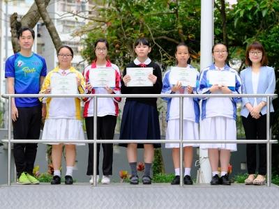 同學於喜『閱』學校嘉許計劃榮獲「喜『閱』學生」嘉許獎(閱讀學會)