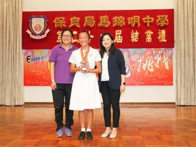 5C劉靜彤於校外多項拯溺比賽中獲得傑出成績