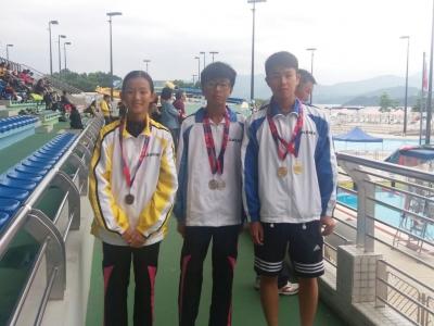 2017學界游泳比賽獲佳績