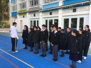 中一新會員步操課程及練習(紅十字會)